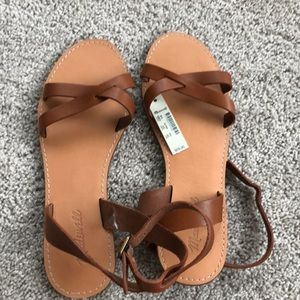 Madewell brown leather sandals